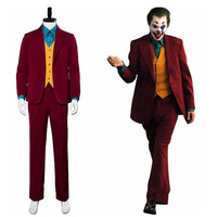 Movie Joker Arthur Fleck Cosplay Costume Fancy Carnival Halloween Costumes Batman Red Suit Cosplay Joker Costume