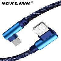 VOXLINK 5V 2.4A Cable USB para iphone X XS X XR de carga rápida de datos de sincronización de Cable USB para iphone xs max 8Plus 7 6 6s ipad mini