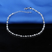 Hot Sale Classic Simple Small Round Ball Bead Bracelets 925 Sterling Silver Plate Bracelet Chain For Women Jewelry
