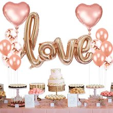 13Pcs/set Love Heart Foil Balloons Latex Confetti Ballons Romantic Wedding Decoration Party Supplies Rose Gold Silver Red