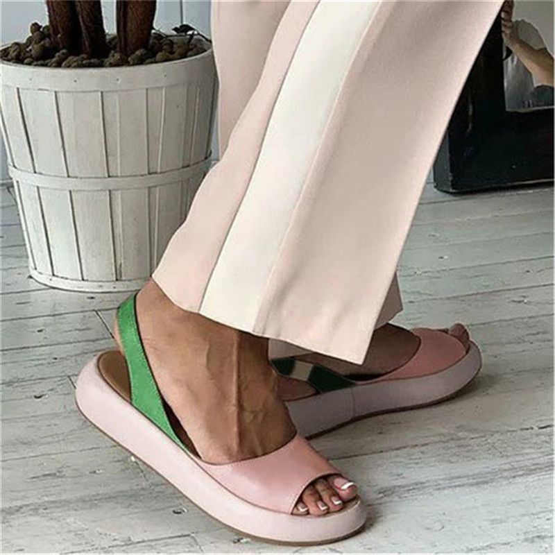 2020 Fashion Candy Color Women Sandals Flip Flops Summer Rome Slip-On Breathable Non-slip Shoes Woman Slides Solid Casual Female