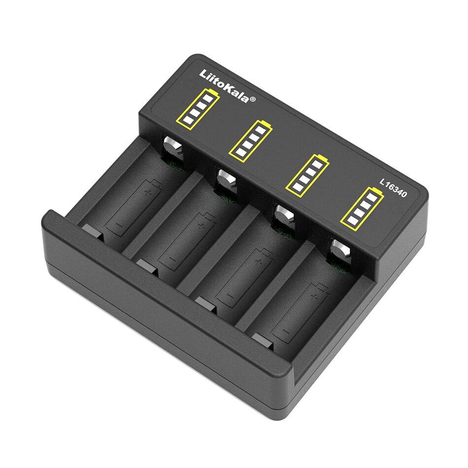 Зарядное устройство LiitoKala для аккумуляторов 3,7 в, 4,2 в, CR123A, CR123 16340