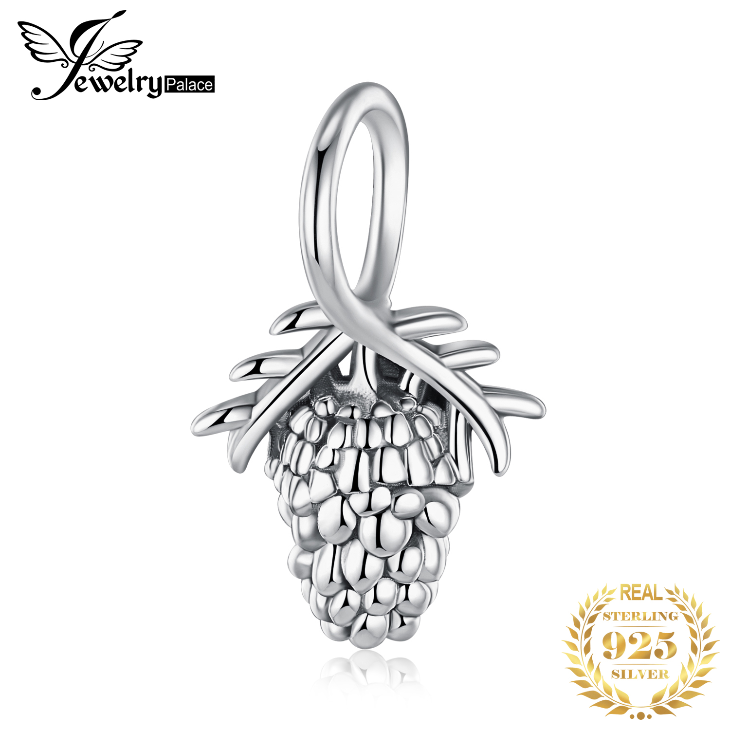 JewelryPalace Pinecone 925 Sterling Silver Beads Charms Silver 925 Original For Bracelet Silver 925 Original Jewelry Making Girl