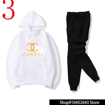 Luxury Designer Brand Chanel Fashion Suit Mens Clothing Womens Clothes+Pants High Quality