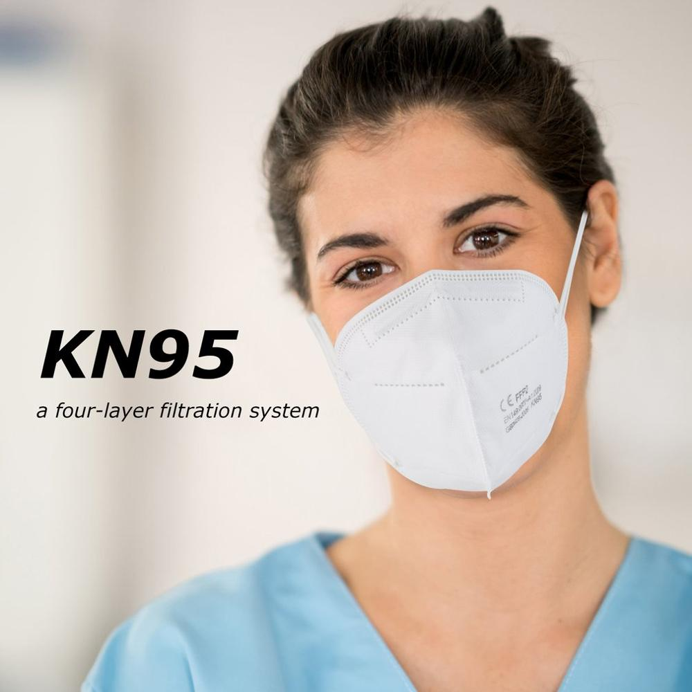 KN95 Protective Mask Anti-bacterial Outdoor Face Mask Anti-fog Anti-fog Haze Unisex High Efficiency Filtration Breathable Mask