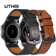 Uthai p10 20mm pulseira de relógio clássico couro bezerro 22mm relógio banda com pulseira de relógio de couro interruptor da orelha pulseiras frete grátis