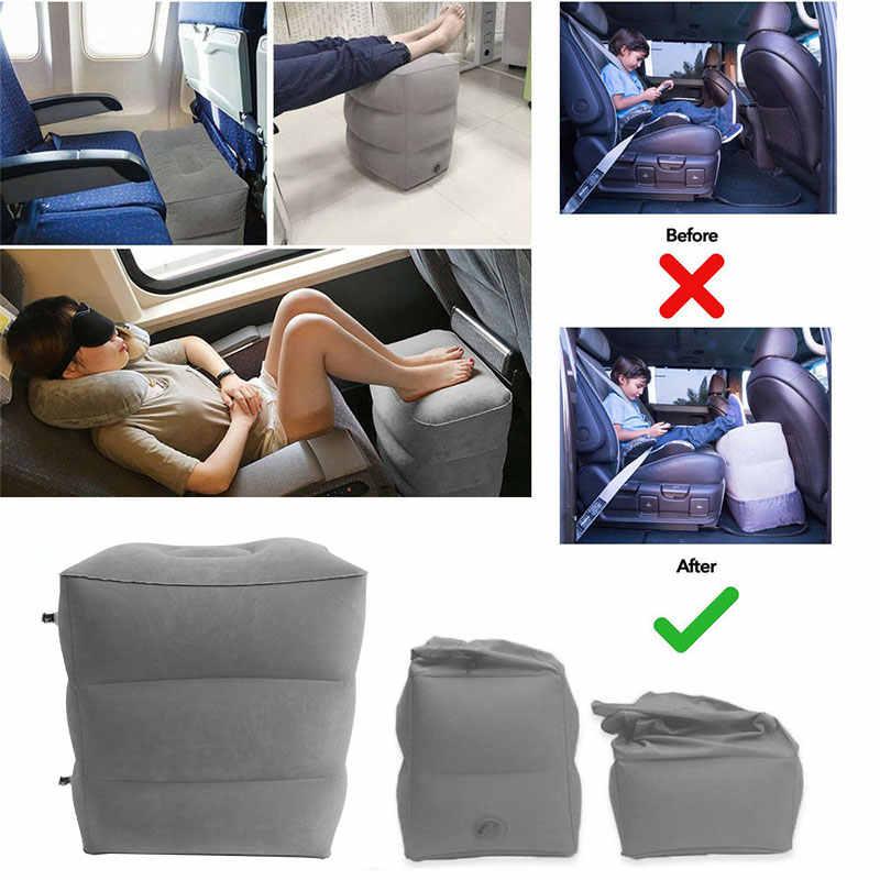 Taşınabilir seyahat Footrest yastık PVC şişme uçuş uyku bacak dinlenme yastık ofis ev tren çocuk yatağı ayak istirahat pedi puf