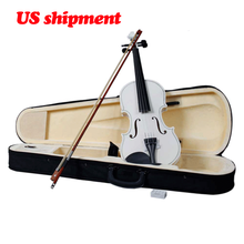 electric violin 4/4 full size violon Basswood material New Hige quality Bow Rosin White 4/4 Acoustic Violin Case цены