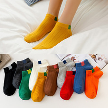2019 Summer Autumn Candy Colors Women Ankle Socks Funny Cute Solid color Plush Boat Socks Girl Art Sock Short Sox Factory Price