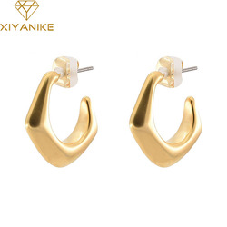 XIYANIKE 925 Sterling Silver French Retro Geometric Earrings High Quality Exquisite Needle Exaggerated Elegant Sexy Cерьга