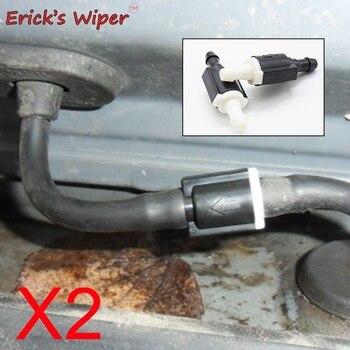 에릭의 와이퍼 2 pcs 앞 유리 와이퍼 와셔 비 반환 체크 밸브 현대 겟츠 부품 코드 85321-26020 용 유리 와셔 개선