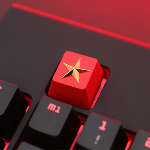 Image 4 - Keycap 1 PCS Communist Party or Pentagram Personalized Embossed Zinc Aluminum Metal Keycaps Mechanical Keyboard R4 Height Button