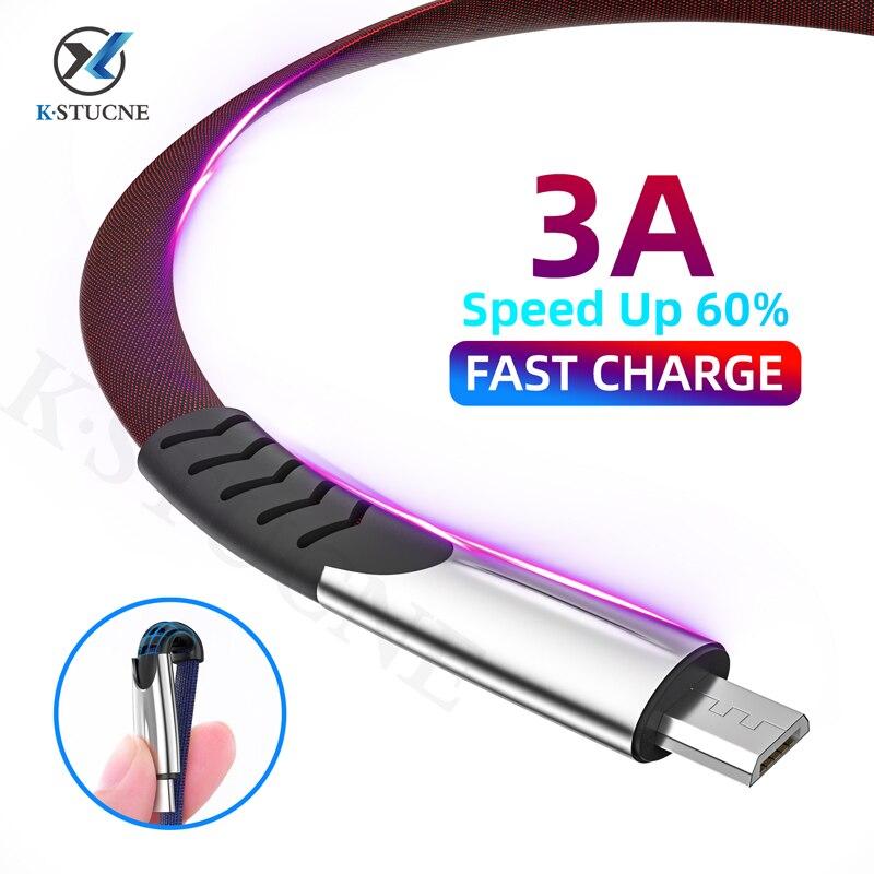 3A Micro câble USB fil de charge rapide pour Samsung J7 S7 cordon de chargeur pour Xiaomi Redmi Note 5 téléphone Android câble Micro USB 3M 2M