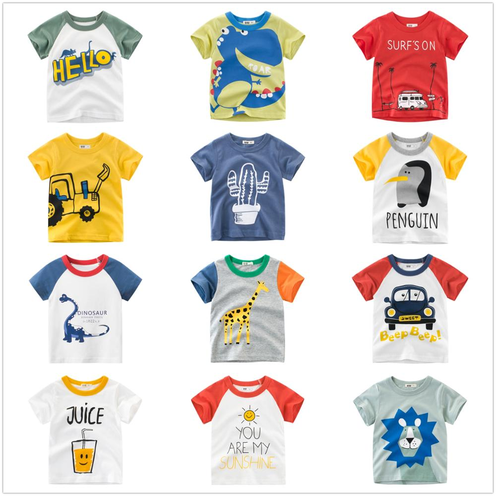 Baby Boys T-Shirts Shark Pattern Children's Clothing  Summer T-shirt For Boys Clothes Cotton Short Sleeve Clothing Boys T Shirt