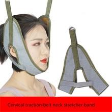 Cervical traction belt neck stretcher band medical vertebrae recovery health
