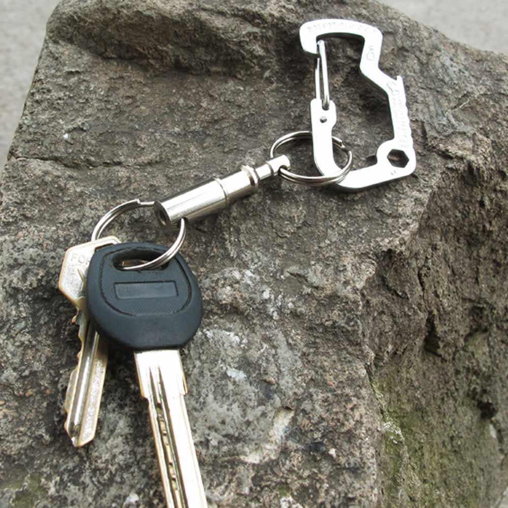 5 шт./лот двухголовое Быстроразъемное съемное кольцо для ключей съемный удобный аксессуар для ключей с двумя раздельными кольцами набор для активного отдыха
