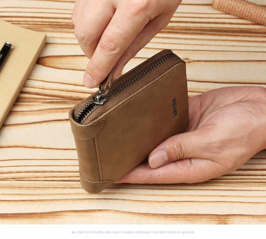 ผู้ชายกระเป๋าสตางค์สั้น Bifold PU หนังผู้ชายกระเป๋าแฟชั่นกระเป๋าซิปเล็กกระเป๋าคลัทช์เงินคลิป # g2