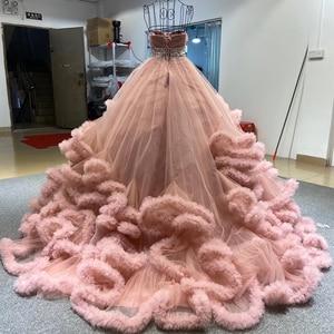 Image 2 - J6662 Jancember Mehrere Farbe Abendkleid 2020 Schärpen Schatz Mit Sleeveless Kristall Rüschen Lace Up Zurück