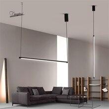 Línea moderna LED luces colgantes restaurante desván atenuación lámpara colgante dormitorio sala de estar lámpara colgante accesorios de cocina iluminación