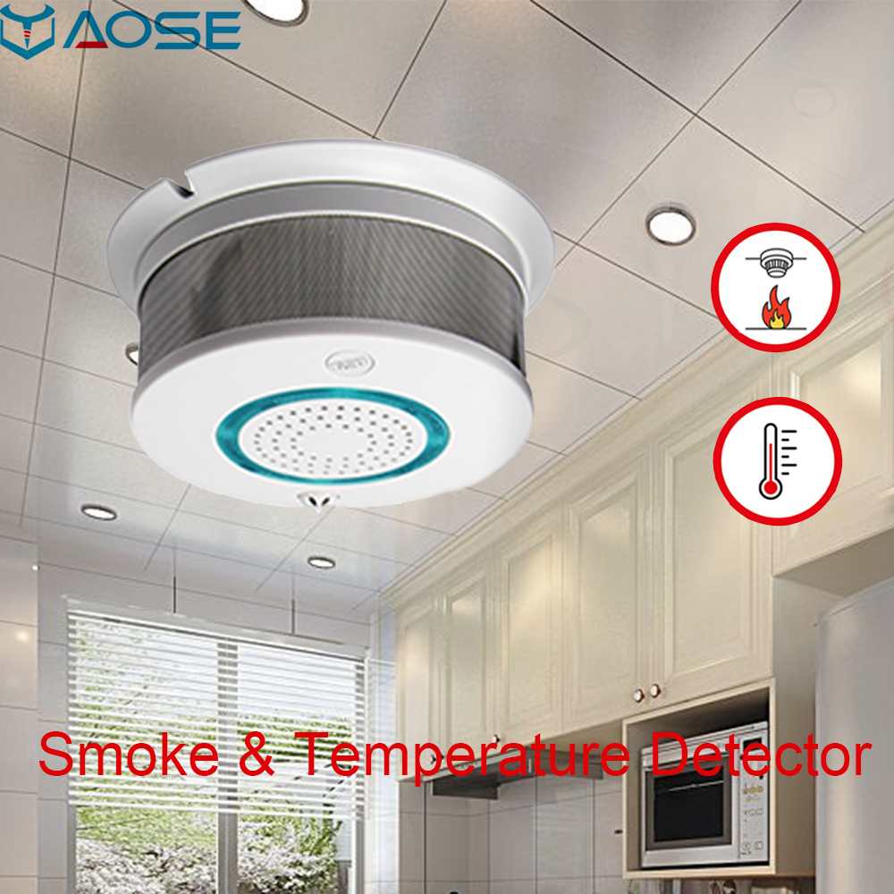 YAOSE WIFI Wireless Smoke Detector Home Security Alarm System With Fire Protection Lower Battery Reminder