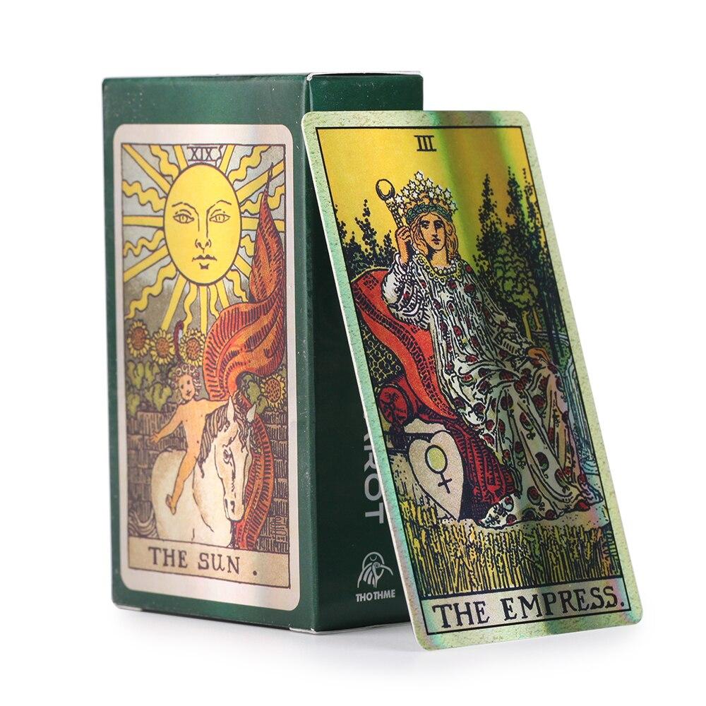 Smith-Waite Centennial Tarot Card Deck настольная игра вечерние Полный английский PDF инструкция голографический