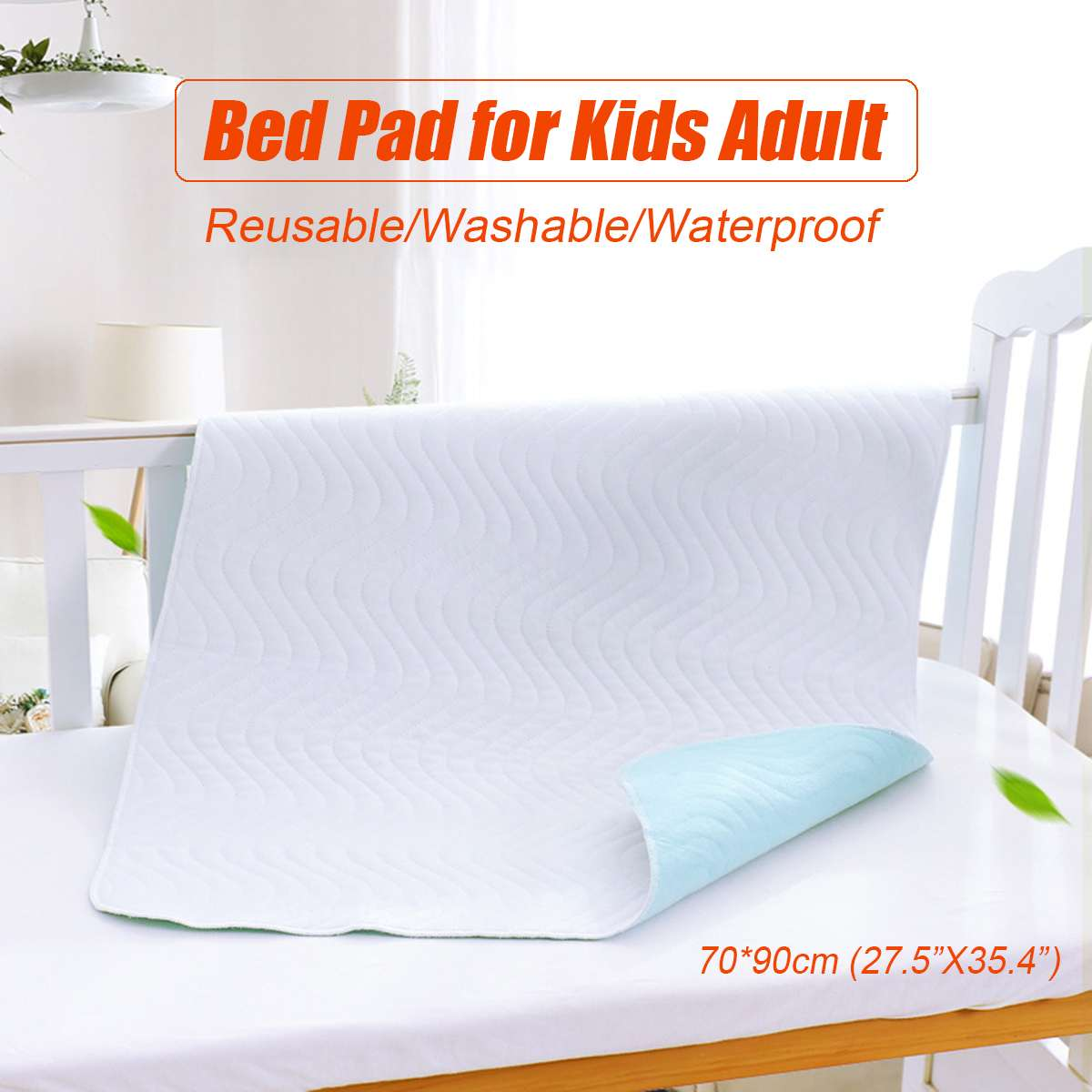 Baby Nappy Changing Pad Bed Sheet Cover Waterproof Travel Changing Urine Tat Portable Incontinence Kid Adult Mattress Protector