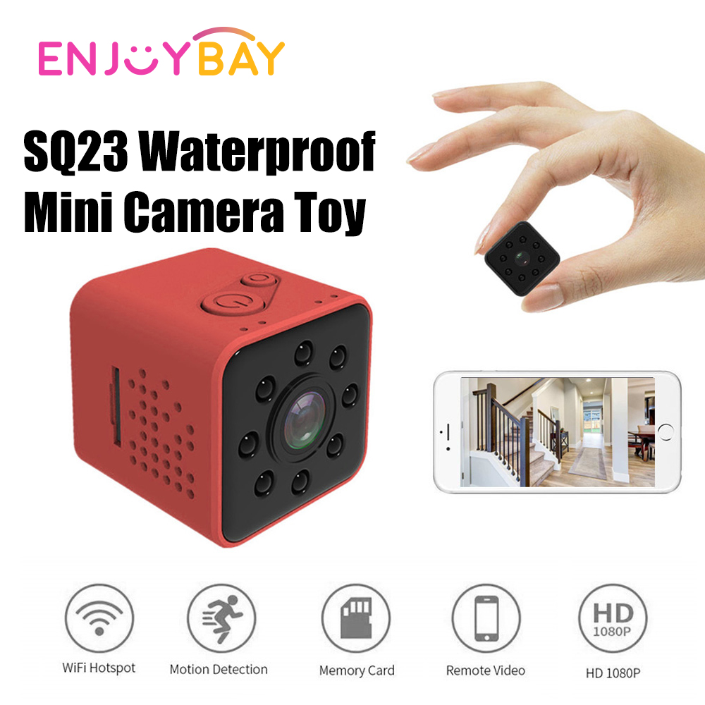 SQ23 Mini Camera Toy Outdoor Play Kids Security Dice Camera Waterproof Motion Video Surveillance Camcorder Action Night Version