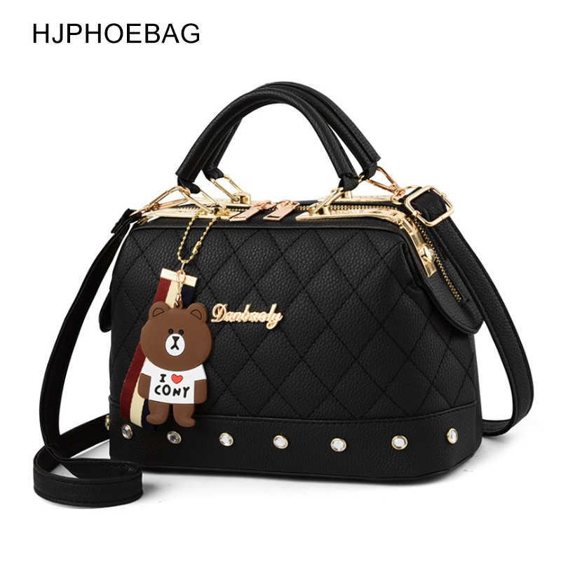 HJPHOEBAG Brand Women  Leather Designer Handbags High Quality Shoulder Bags Ladies Handbags Fashion Brand PU Women Bags YC286