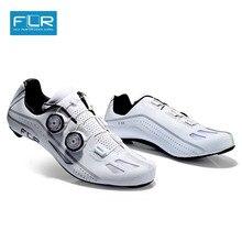FLR zapatos profesionales para bicicleta de carretera, zapatillas de Ciclismo de fibra de carbono SPD para deportes de bicicleta de carretera, FXX