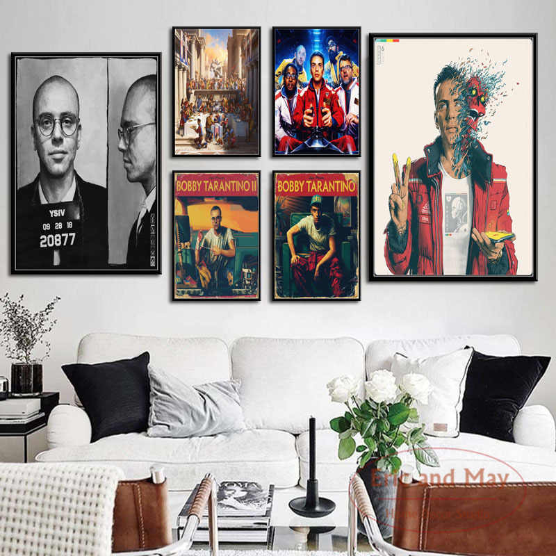 Logic Hot New Album Tarantino Confessions Of A Dangerous Mind Hip Hop Rap Art Painting Vintage Canvas Poster Wall Home Decor