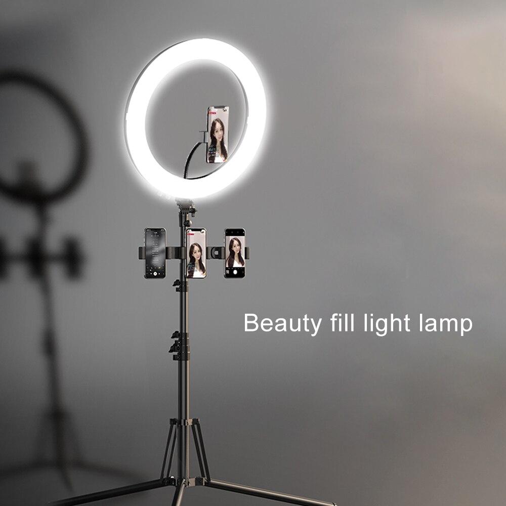 MAMEN 18 дюймов селфи кольцевой светильник 45 см видео Освещение для фотосъемки в студии светодиодный Диммируемый фотоаппарат фото для Youtube пря... - 5
