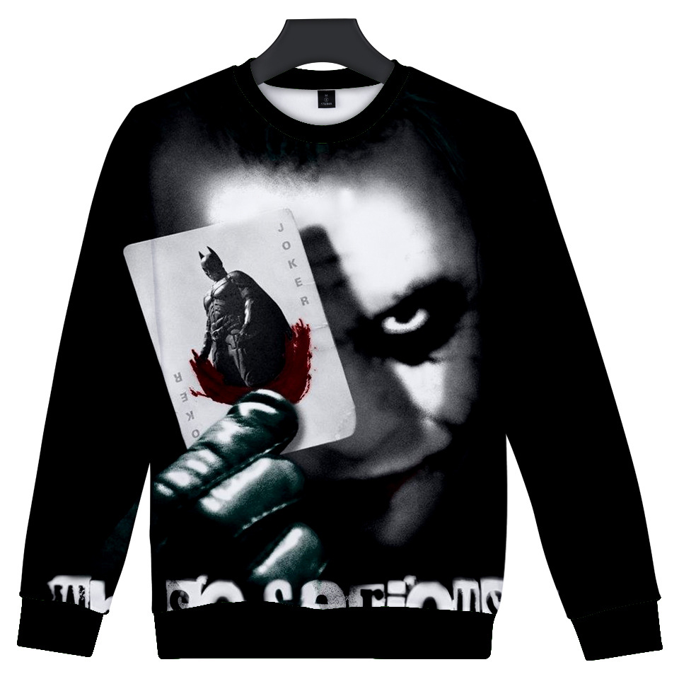 AliExpress Hot Sales Joker Demon Clown 3D Digital Colour Printing Trend Men And Women Round Neck Sweater