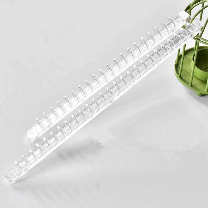 1 Set Portable Notebook Kertas Binder Transparan Planner Jilid Plastik Gesper Cincin Inti Coil Klip Loose-Leaf Sisir
