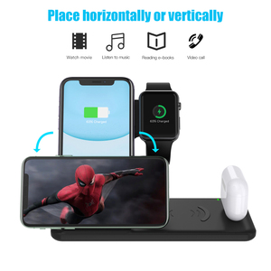 Image 5 - NOHON 15W 4 in 1 Qi Wireless Charger Stand For Apple Watch Airpods Foldable Fast Charging Dock Station For iPhone 12 11 X XS XR