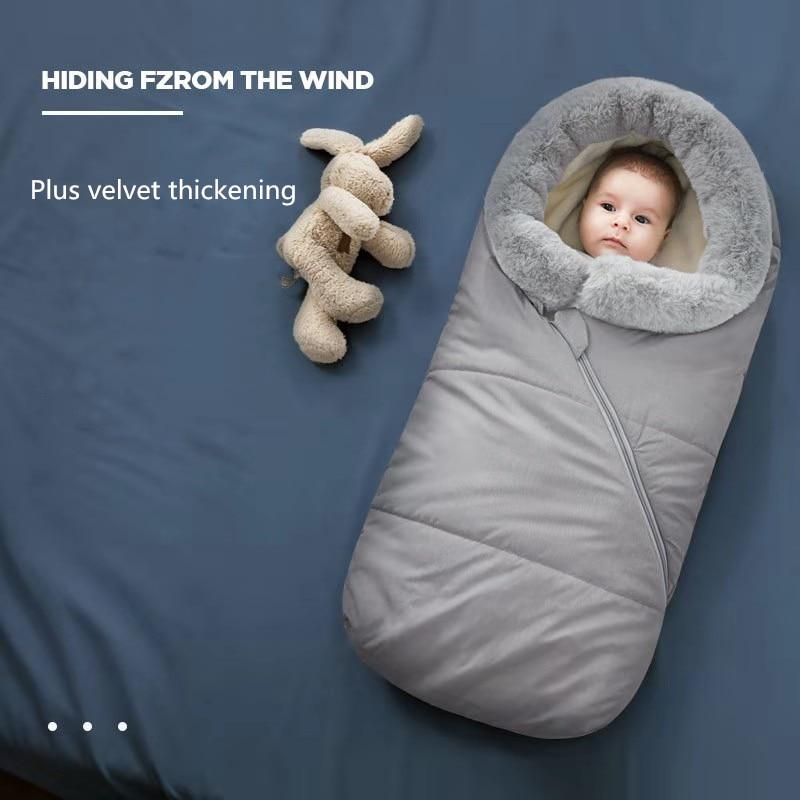 90*46*40cm Baby Sleeping Bag Infant Winter Thick Warm Envelope Sleeping Bag For Stroller Wheelchair Baby Windproof Sleepsacks