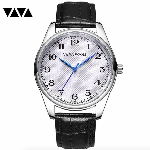 Мужские кварцевые часы с синими указателями, мужские часы с узором в клетку, черные, коричневые кожаные водонепроницаемые спортивные часы, мужские часы в подарок