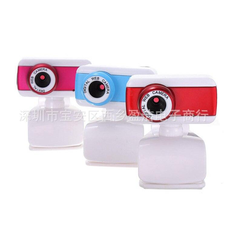 Ordinateur de bureau USB avec Microphone Webcam Clip d'affichage à cristaux liquides haute définition lecteur gratuit tête vidéo en gros