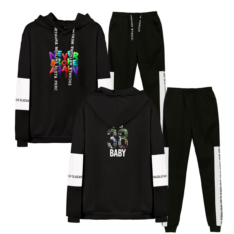 New Youngboy Never Broke Again Hoodies Sweatshirts Sets Long Sleeve Tracksuit  Trousers 2PCS Suit Sport Fashion Winter Costume
