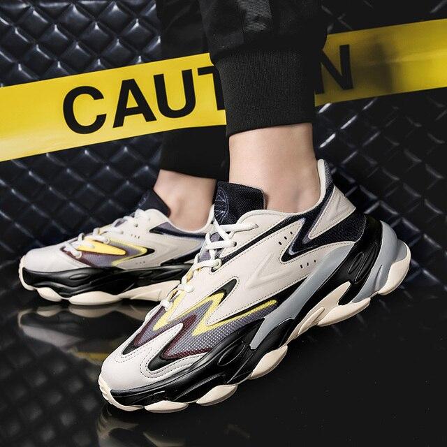 Breathable Jogging Shoes Men Shoes color: Beige Gray