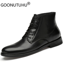 2019 new autumn fashion men's ankle boots genuine leather casual shoes male black brown work army boot man shoe military for men цены онлайн