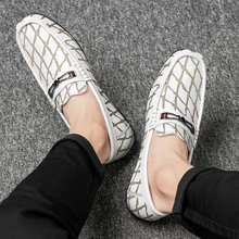 Handmade Men Loafers Genuine Leather Moccasins Breathable Comfort Men Shoes Casual Slip On Flats Driving Shoes new handmade casual shoes men high quality genuine leather soft loafers moccasins slip on male flats driving shoes lazy slippers