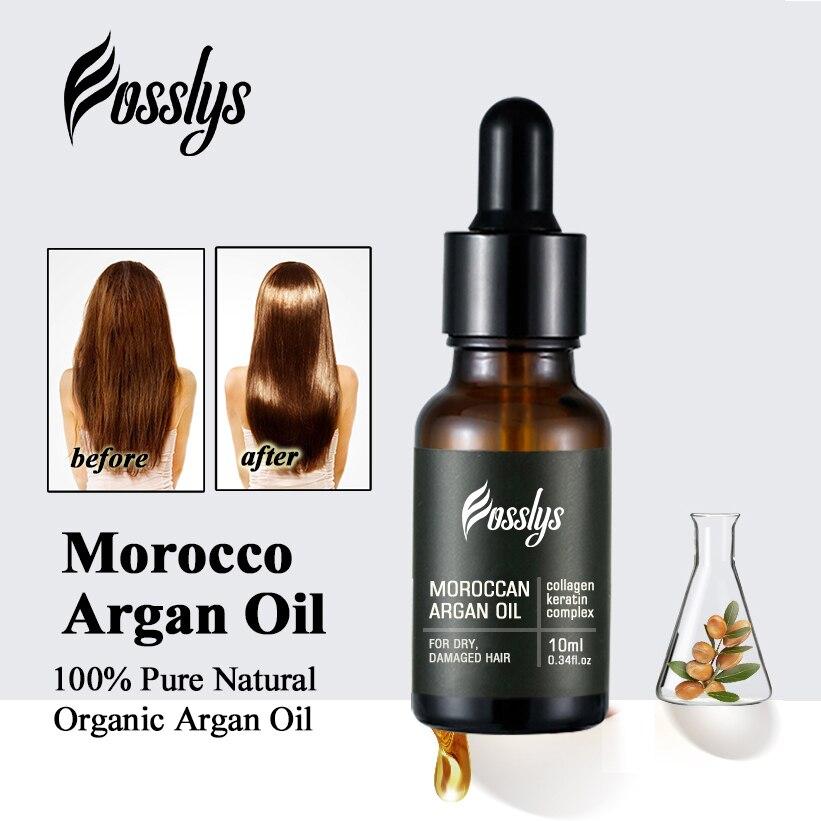 10ml Morocco Argan Hair Oil Treatment Care Product Hair Salon Essential Oil Moroccan Pure Argon Oil Hair Serum With Vitamins