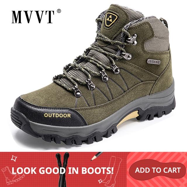 Super Warm Men Winter Boots Suede Leather Men Boots Fur Plush Snow Boots waterproof Winter Shoes For Men Outdoor Boots Shoes
