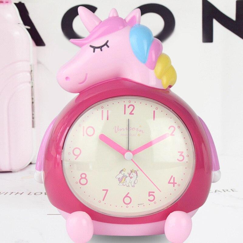 Unicorn children alarm clock bedroom 3D decoration cute cartoon alarm clock kids birthday gifts bedside table clock for babies|Alarm Clocks|   - AliExpress