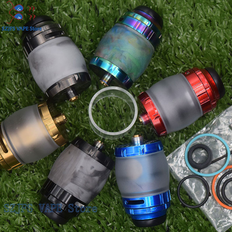 Zeus X RTA Tank With 810 Drip Tip 4.5ml Capacity Single/Dual Coil Building Top Airflow Atomizer 25mm Fit 510 Ecig Vape Pen