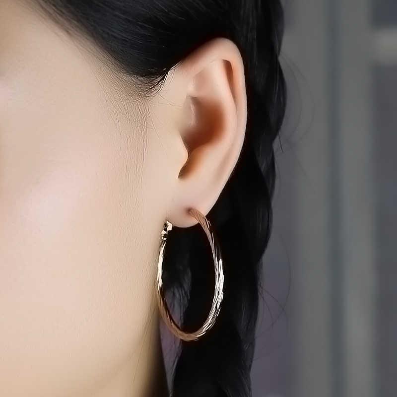 Innopes Gold Hoop ต่างหูใหญ่รอบต่างหูแฟชั่นเครื่องประดับสำหรับผู้หญิงหญิงคลิปหูเกาหลีต่างหู 2019