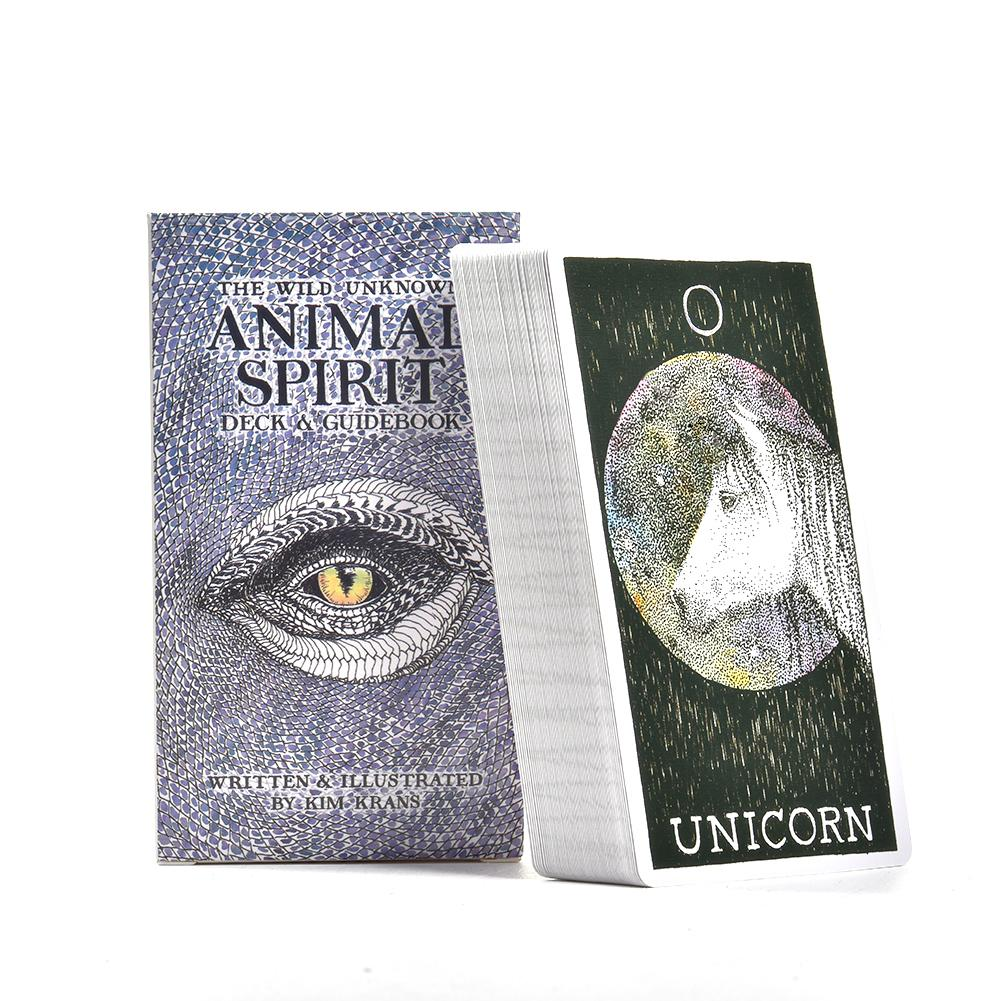 63 Sheets The Wild Unknown Animal Spirit Tarot Cards Deck English Guidebook Party Table Games Playing Cards Family Entertainment