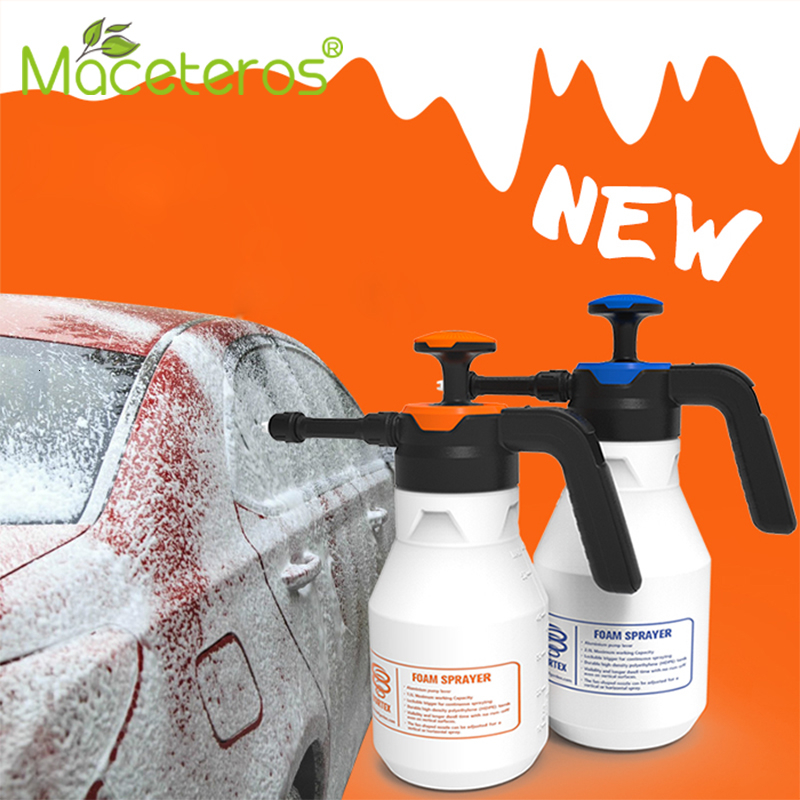 Cleaning-Tools Nozzle Watering-Can Foam-Sprayer Pressure-Pump Car-Wash Household 2L title=