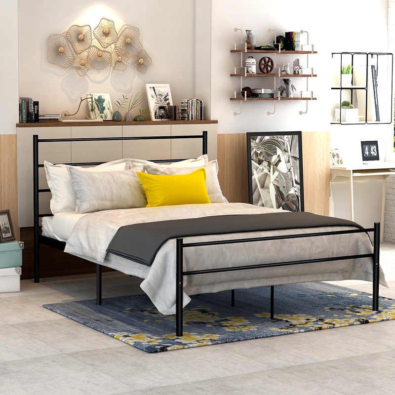 Dumee Metal Bed Frame Modern Platform Beds Headboard Footboard Foundation Firm Support Easy Setup Structure Bedroom Furniture Aliexpress