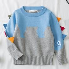 Autumn Kids Knitting Coat Baby Boys Girls Pullover Sweaters Kids Pullovers Tops Cartoon Long Sleeve Sweater